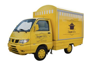 Street food business truck porter piaggio